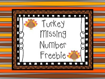 Thanksgiving Turkey Freebie