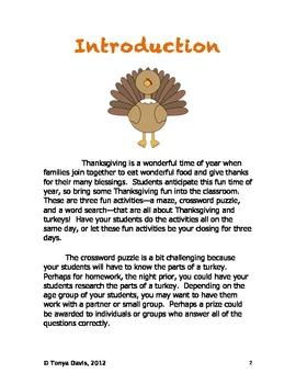 Thanksgiving Turkey Fun