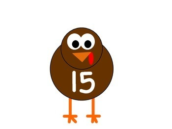 Thanksgiving Turkey Fun: Making 10, 15, and 20 (Using 2 & 3 Addends)