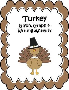 Thanksgiving Turkey Glyph, Graph & Writing