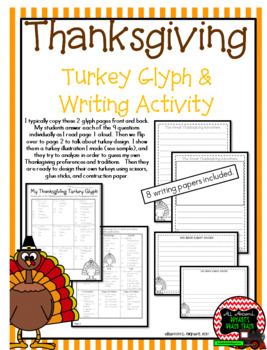 Thanksgiving Turkey Glyph and Writing Activity