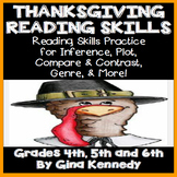 Thanksgiving Reading Skills Practice, Plot, Genre, Inference, Much More