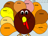 Thanksgiving Turkey Graphic Organizers - Parts of A Story