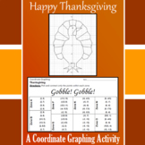 Thanksgiving - Gobble! Gobble! - A Coordinate Graphing Activity