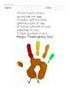 FREE Thanksgiving Turkey Handprint Poem