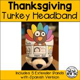 Thanksgiving Turkey Headband with Spanish Version