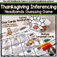 Thanksgiving Speech and Language Headbands Game Companion: Inferencing Game