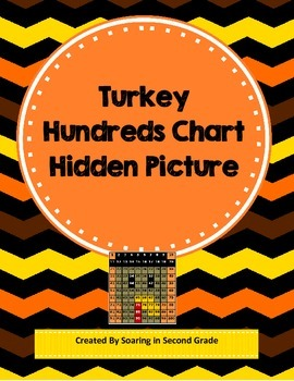 Thanksgiving Turkey Hundreds Chart Hidden Picture Math Place Value Practice