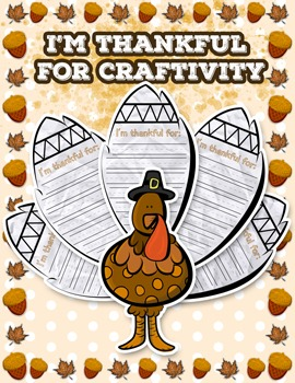 Thanksgiving Turkey I Am Thankful Craft / Craftivity