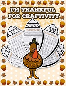 Thanksgiving Turkey I Am Thankful Craft / Craftivity
