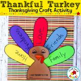 "Thanksgiving Turkey ""I am Thankful For"" Craft"