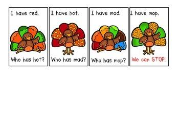 Thanksgiving CVC Word Game
