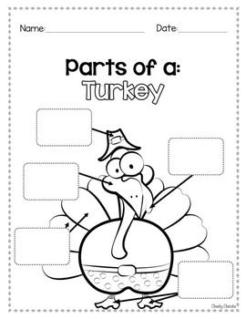 Thanksgiving Turkey Activities - I am thankful for...