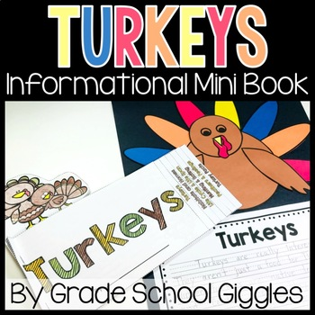 Turkey Mini Book: Informational Text for Thanksgiving