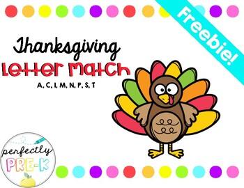 Thanksgiving Turkey Letter Match - FREEBIE!