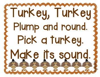 Thanksgiving Turkey Letter Sound Game