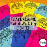 Thanksgiving Turkey Letter Tracing - a NO PREP Handwriting / Writing Center