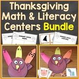 Thanksgiving Turkey Literacy & Math Centers Bundle (Common Core Aligned)