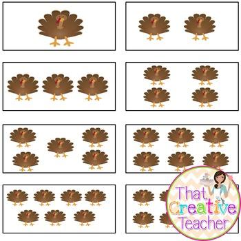 Thanksgiving Turkey Math Acvitity