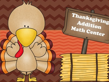 Thanksgiving Turkey Math Addition Sort