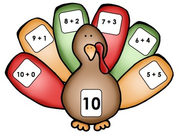 Thanksgiving Turkey - Math Center (Addition)