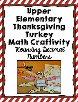 Thanksgiving Turkey Math Craft: Rounding Decimals