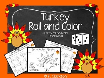Thanksgiving {Turkey} Math Roll and Color