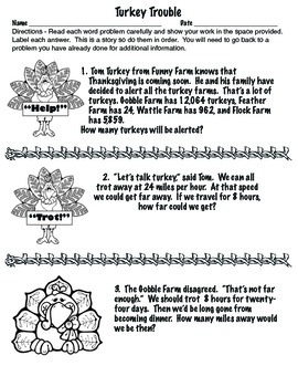 Free printable thanksgiving math worksheets for 4th grade