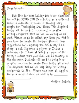 Thanksgiving Turkey Narrative Writing Project