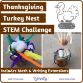 Thanksgiving Turkey Nest STEM Challenge Engineering Activity
