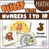 Thanksgiving Math Activities - Numbers 1 to 10