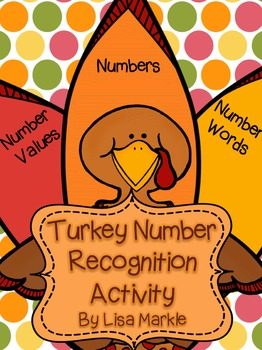Thanksgiving Turkey Number Recognition Activity