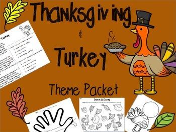 Thanksgiving & Turkey Packet 1st & 2nd Grades