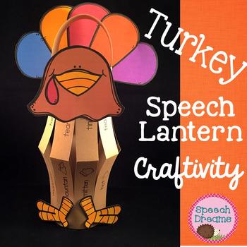 Thanksgiving Turkey Paper Lantern Speech Therapy Craft {craftivities}