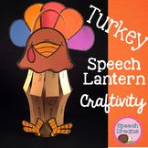 Thanksgiving Turkey Paper Lantern Speech Therapy Craft {craftivities}