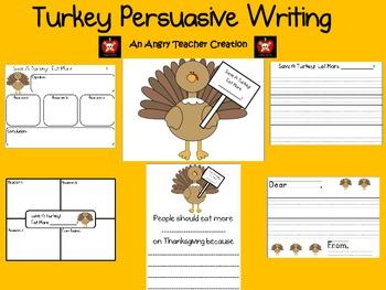 Thanksgiving Turkey Persuasive Writing