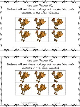 Thanksgiving Turkey Positional Words Booklet