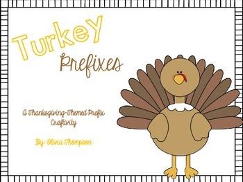 Thanksgiving Turkey Prefix Craftivity