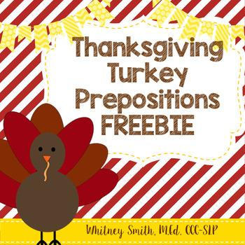 Thanksgiving Turkey Prepositions Practice