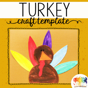 Thanksgiving Turkey Printable Craftivity Template