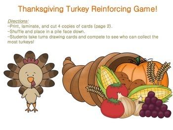 Thanksgiving Turkey Reinforcing Game