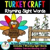 Thanksgiving Turkey Rhyming Sight Word Craft