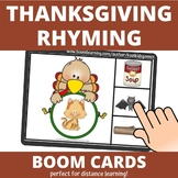 Thanksgiving Turkey Rhyming Words BOOM Cards (distance learning)