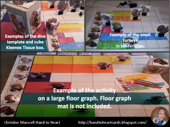 Thanksgiving Turkey Roll and Graph Using A Cube Kleenex Box or Dice Template