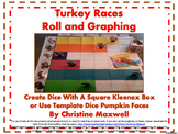 Thanksgiving Turkey Roll and Graph Using A Cube Kleenex Bo