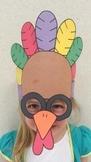 Thanksgiving Turkey Sentence Strip Hat Mask