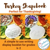 Thanksgiving Turkey Shape Book