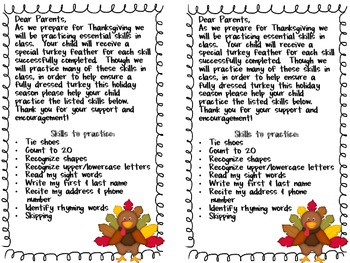 Thanksgiving Turkey Skills Project