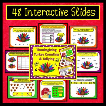 Thanksgiving Smartboard Counting and Tallying