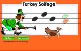 Thanksgiving Turkey Solfege SMARTBoard +iPad Lesson